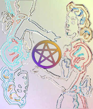 Pentacle Queen in Neon